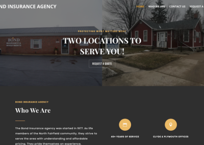 Bond Insurance Agency Website