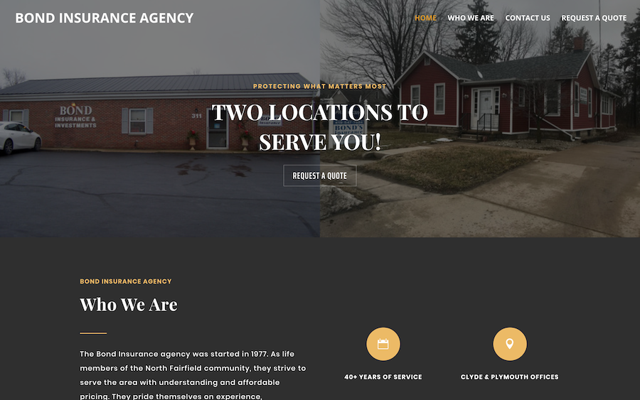 Bond Insurance Agency Website