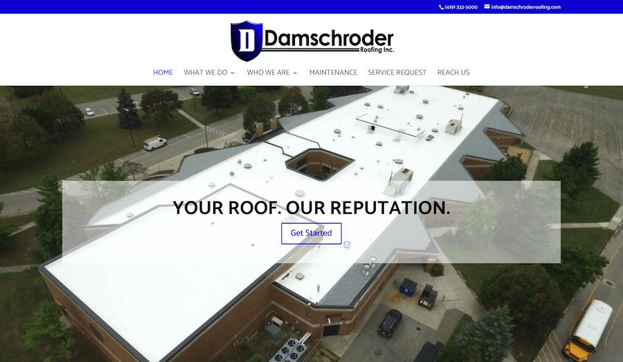Damschroder Roofing Website