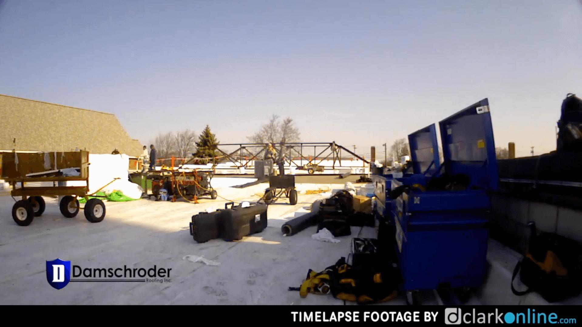 Gibsonburg CVS Damschroder Roofing Timelapse Video
