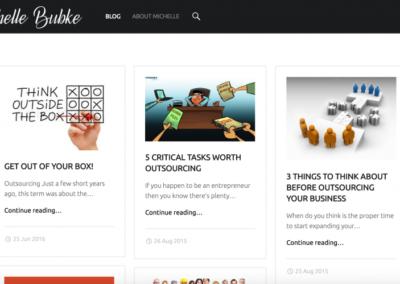 Michelle Bubke Website