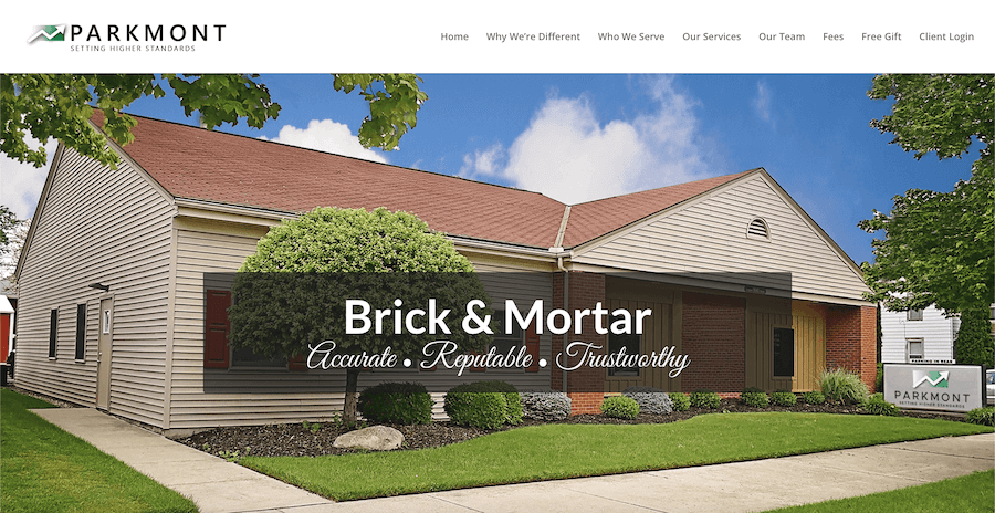 Parkmont Wealth Advisors Website