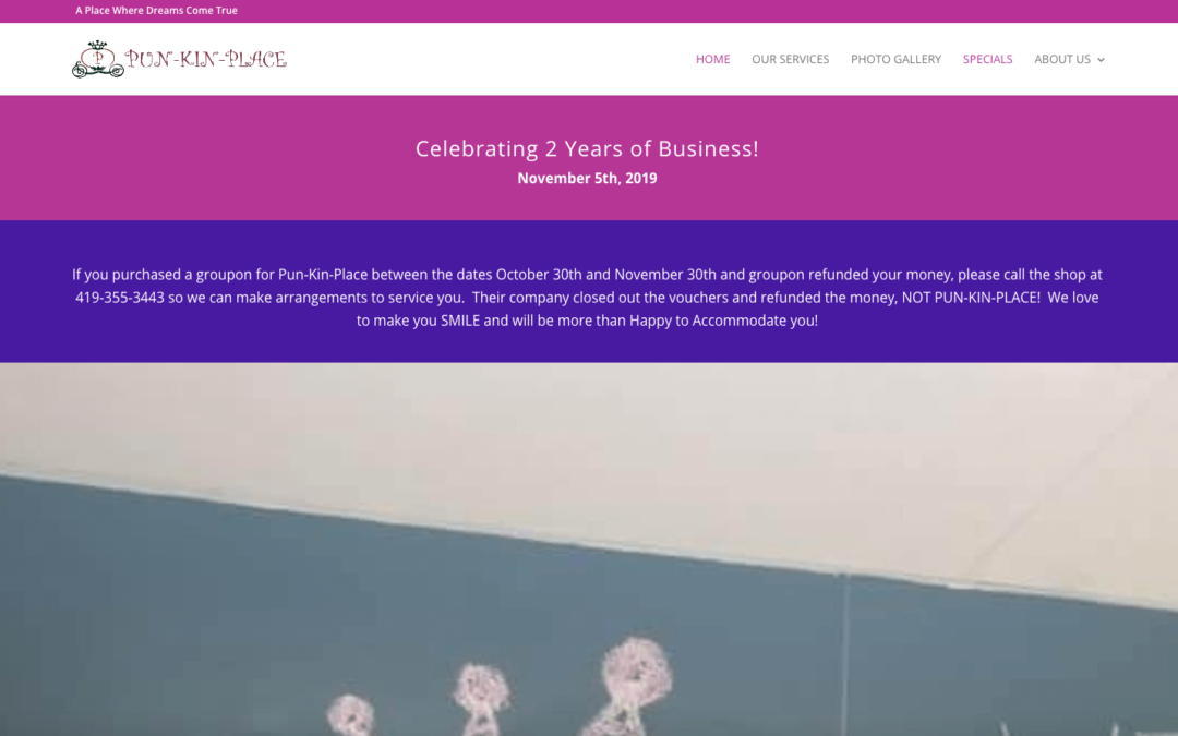 Pun-Kin-Place Salon Website