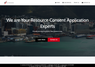 RCA Consulting New Zealand Website