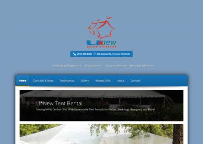 UNew Tent Rental Website
