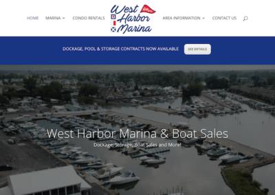 West Harbor Marina Website